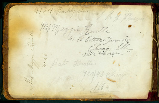 Maggie's autograph book, inside cover