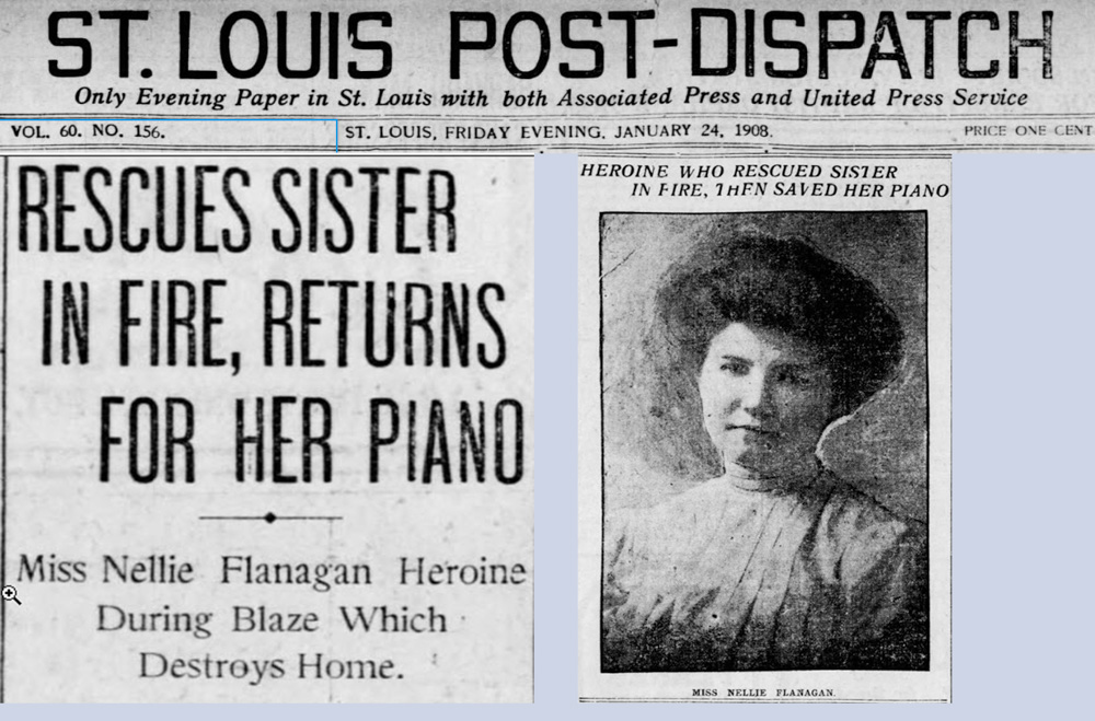 Fire in Flanagan home, Jan 24, 1908