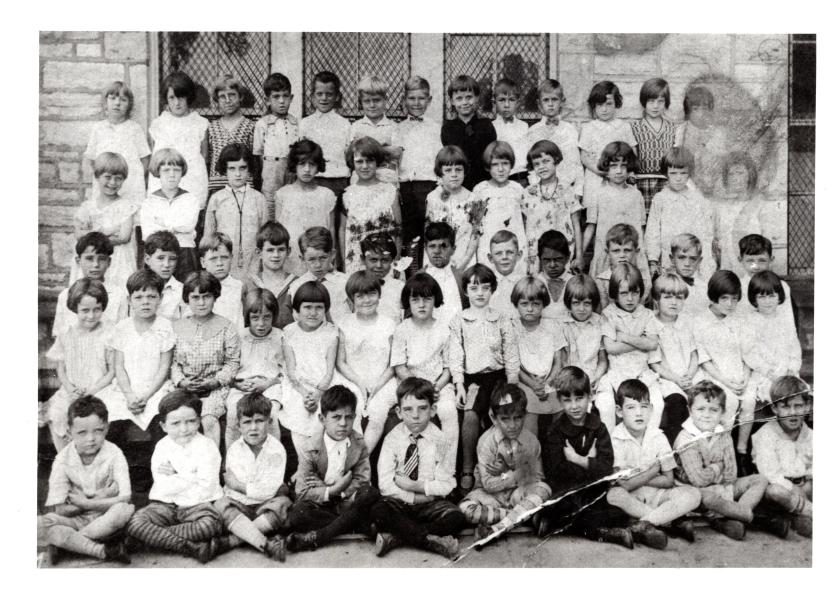 First grade at St. Edward's parochial school, St. Louis. About 1928.
