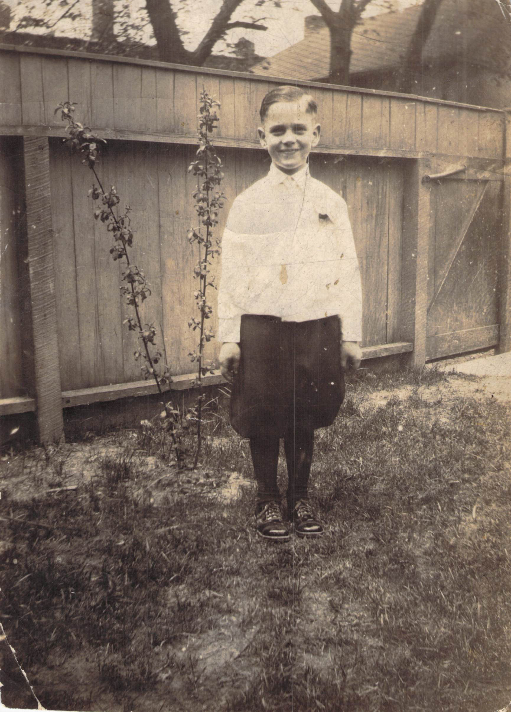 """Walter """"Curly"""" Price, 1st Communion, abt 1928"""
