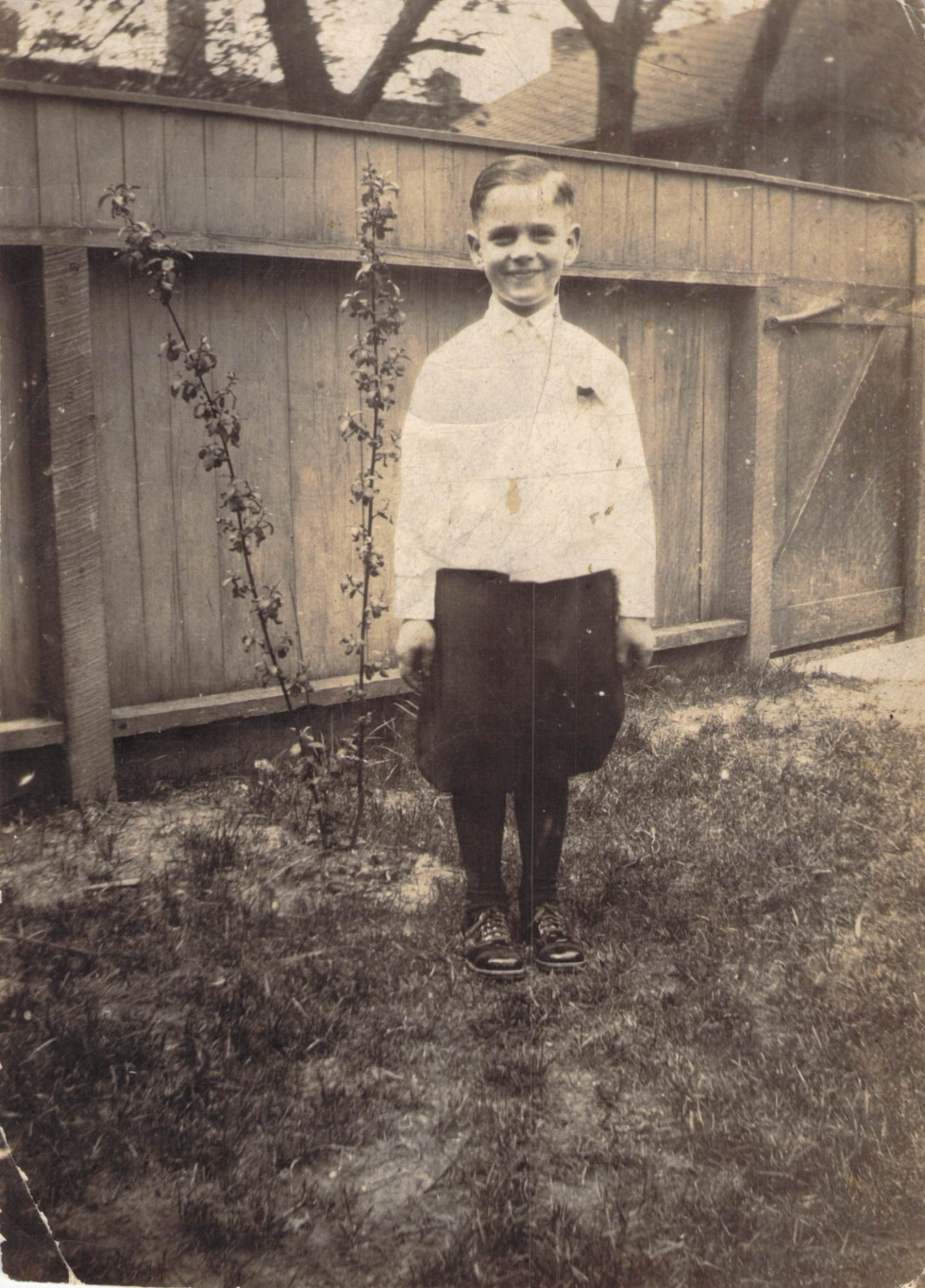 "Walter ""Curly"" Price, 1st Communion, abt 1928"