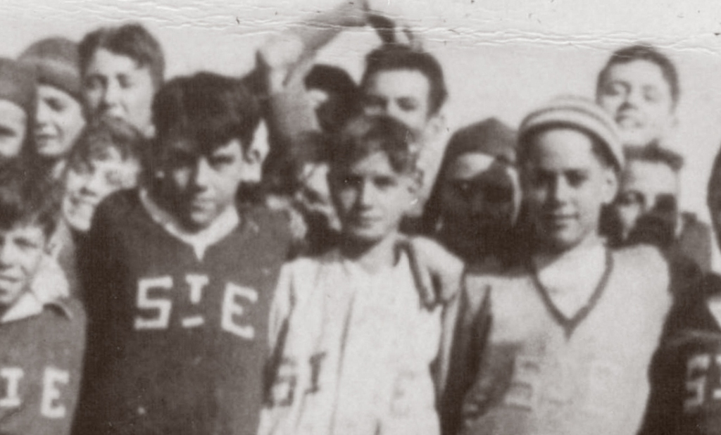 St. Edward's soccer team 1935, detail